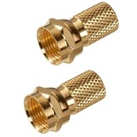 Coaxial Twist F Connector, Gold
