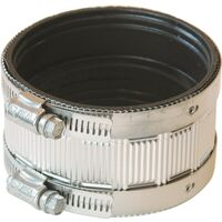 Stainless Steel No Hub Coupling, 3""