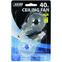 Clear Fan Bulb, 40W, Candel Base