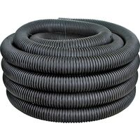 "Heavy Duty Perforated Corrugated Pipe, 4"" x 100"