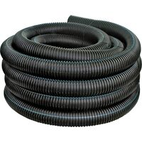 "Heavy Duty Solid Corrugated Pipe, 4"" x 100"""