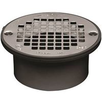 Oatey 43582 Floor Drain With 5 in Stainless Steel Screw-Tite Strainer