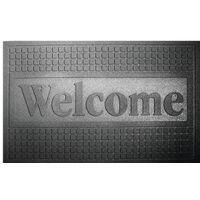 CRUMB RUBBER WELCOME MAT 18X30
