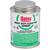 PVC Heavy Duty Cement, 32 oz Clear