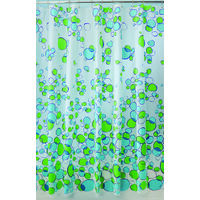 "Bubbles Shower Curtain, 72"" x 72"" Blue Green"
