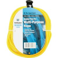"Braided Polypropylene Rope, 1/4"" x 100'"