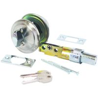 American Hardware Mobile Home D-113B Single Cylinder Entrance Deadbolt