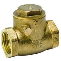 Low Lead Brass Check Valve, 1/2""