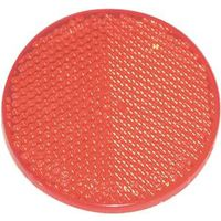 American Hardware RV-657C Self-Adhesive Safety Reflector, 2 in Dia, Plastic, Red