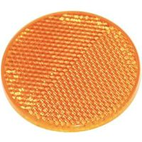 American Hardware RV-658C Self-Adhesive Safety Reflector, 2 in Dia, Plastic, Amber