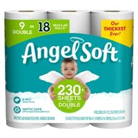 "Angel Soft Toilet Paper, 4.27"" x 4' White 9 Pk"