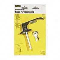 Keyed Cylinder L-Handle Lock, Chrome