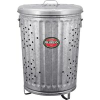 Metal Refuse Burner with Lid, 2.5 Gal