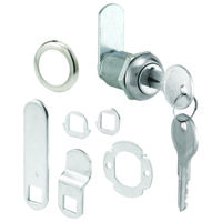 "Keyed Alike Cam Lock, 9/16"" x 7/8"" Chrome"