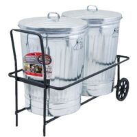 Adjustable Refuse Caddy Hand Cart, 30 Gal