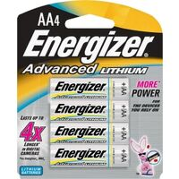 Energizer AA Advanced Lithium Batteries, 4 Pk
