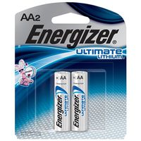 Energizer L91BP-2 Non-Rechargeable Cylindrical Lithium Battery