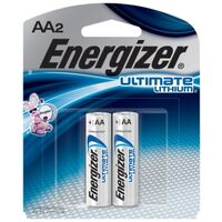 Energizer Photo Electronic Batteries, AA 2 Pk