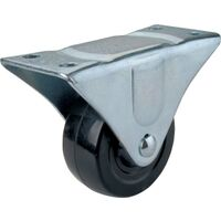 "Plate Caster, 3"" Rigid Rubber"