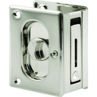 LOCK POCKET DOOR SATIN NICKEL
