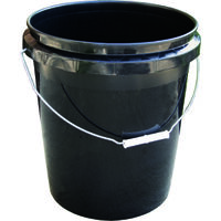 Bucket, Space Eff, Black, 5 Gal