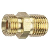 Tru-Flate 21-595 Hose Adapter with Ball Socket, 1/4 in, MNPT X MNPS, Brass