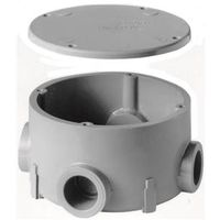 Carlon E970CD-CTN Rigid Round Conduit Body with Cover