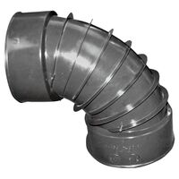 Corrugated 90 Degree Drain Elbow, 4""
