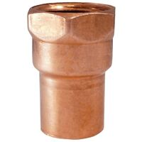 Wrot Copper Pressure Female Adapter, 1/4""