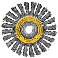 """Cable Twist Wire Brush Wheel, 4"""""""