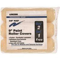 3PC 9IN PAINT ROLLER COVER SET
