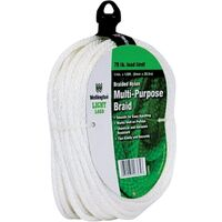 "Braided Nylon Rope, 1/4"" x 100'"