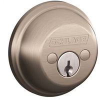 Schlage B62NV 619 Double Cylinder Dead Bolt