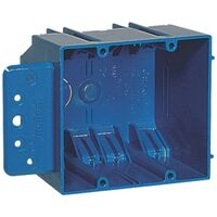 2 Gang Square PVC Outlet Box