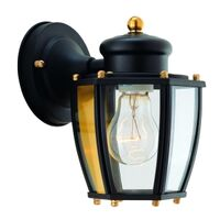 One Light Wall Lantern, Black
