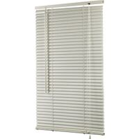 "Vinyl Mini Blinds, 25""W x 64""H Alabaster"