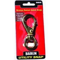 "Swivel Round Eye Quick Snap, 5/8"" Bronze"