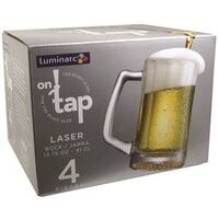 Luminarc Laser Sport Mug Beer Glass, 13 oz