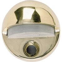 Bright Brass Low Rise Floor Door Stop