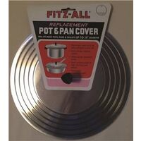 Pot & Pan Cover, Alum, 10""