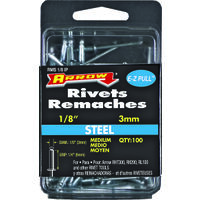 "Short Aluminum Rivet, 1/8"" x 1/8"""