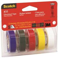 3M 10457 Assortment Colored Electrical Tape Kit