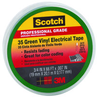Green Electrical Tape, 3/4""