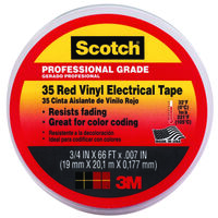 Red Electrical Tape, 3/4""