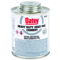 Low VOC PVC Heavy Duty Cement, 16 oz Grey
