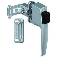 Push Button Storm Door Latch, Aluminum