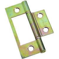 Nonmortise Bi-Folding Door Hinge, 3&quot; Brass