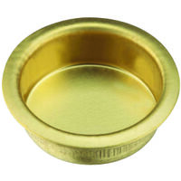 "Flush Finger Pull, 3/4"" Brass"