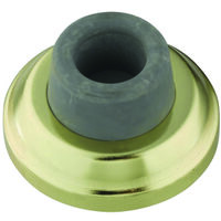 Wall Door Stop, Bright Brass