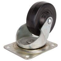Rubber Wheel Plate Caster, 4""